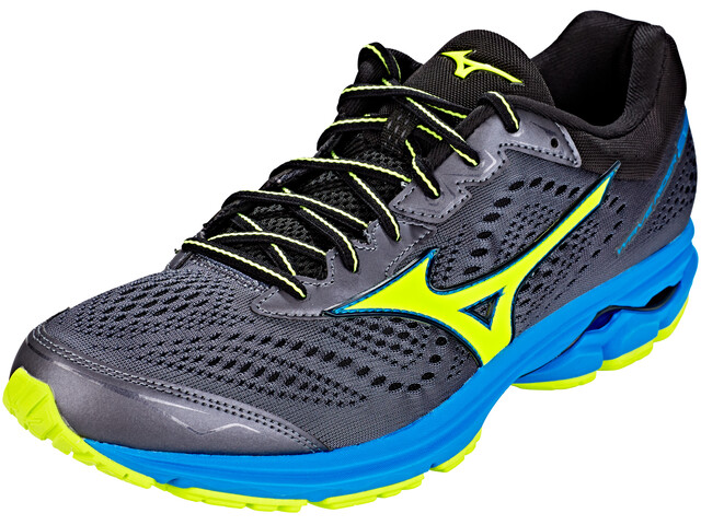 Mizuno Wave Rider 22 Running Shoes Men ombre blue/safety yellow/diva blue